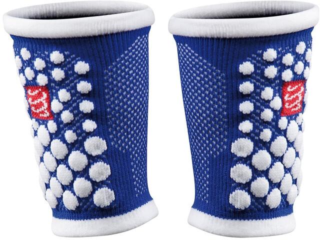 Compressport 3D Dots warmers blauw/wit